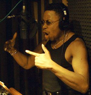 Fausto rapping in Bratt's studio