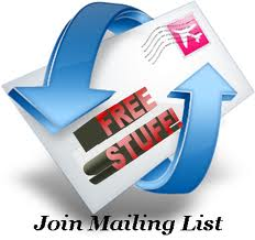 Join our mailng list here!